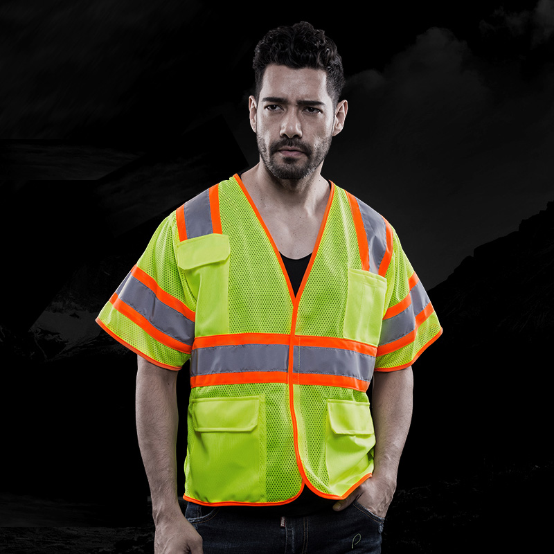 Short Sleeve Reflective Safety Vest Pockets With Hi Vis Tapes Logo Printing Work Clothes Waistcoat Free ShippingShort Sleeve Reflective Safety Vest Pockets With Hi Vis Tapes Logo Printing Work Clothes Waistcoat Free Shipping