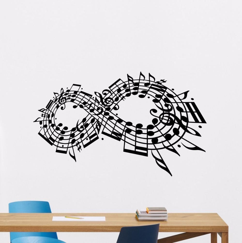 Musical Notes Wall Decal Music Studio Vinyl Sticker Art Decor Home Poster Removable AY0203