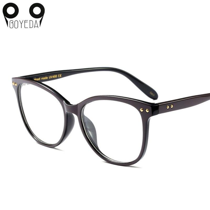 BOYEDA New Women Cat Eye Glasses Fashion Spectacle Frame Brand Female Vintage Computer Eyeglasses Retro Optical Eyewear 1
