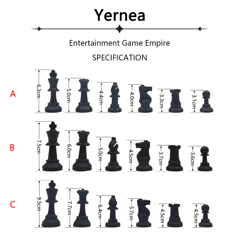 Yernea High-quality Chess Games Set Portable Outdoor Sports Chess Games Shoulder Straps Travel Plastic Chess Pieces
