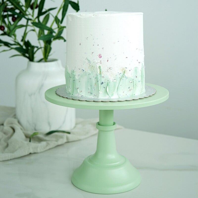 SWEETGO Vert gâteau stands 10 pouces fondant dessert support bruits de gâteau de table de mariage décoration outils dessert partie fournisseurs