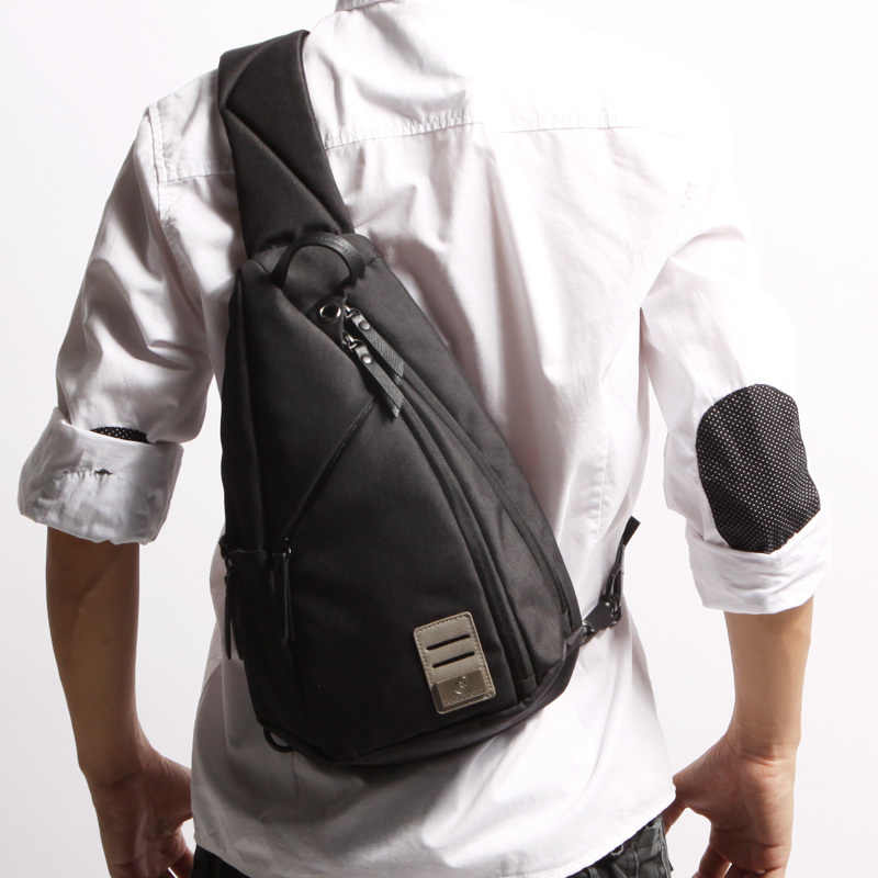 D-parque Saco Do Mensageiro Dos Homens Tecido Multiuso Pacote Peito Sling Sacos de Ombro Casuais para Homens Crossbody Bolsas 2017 Novo moda