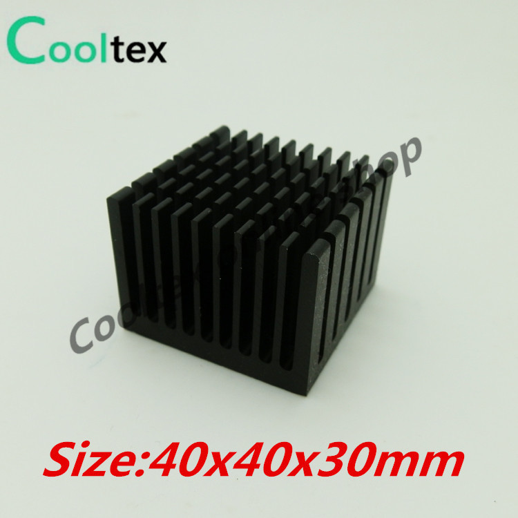 5pcs/lot  40x40x30mm Aluminum  HeatSink  Heat Sink radiator  for electronic Chip LED RAM COOLER cooling 10pcs lot ultra small gvoove pure copper pure for ram memory ic chip heat sink 7 7 4mm electronic radiator 3m468mp thermal