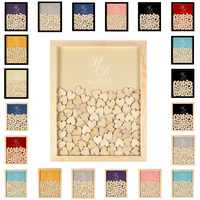 Wedding Guest Book Drop Top Custom Wedding Guest Book Personalized Wedding Guestbook Drop box Wedding Wood Frame for Party Gifts