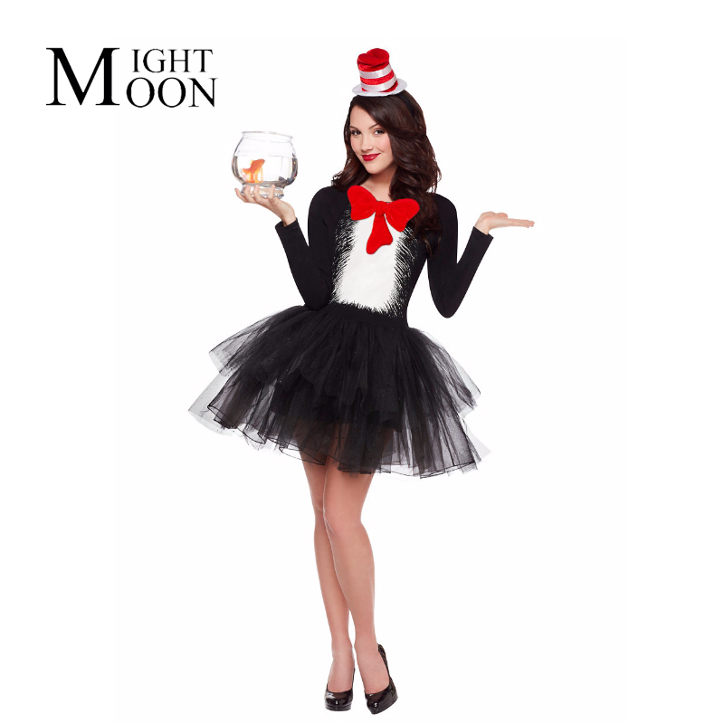 MOONIGHT Women Lady Circus Clown Costume Magician Clown Cosplay Costumes Halloween Party Fancy Dress Decoration Purim