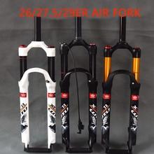 лучшая цена bicycle air fork 26 27.5 29 ER MTB mountain bike suspension fork air resilience oil damping line lock for over SR SUNTOUR EPIXON