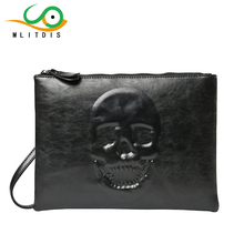 MLITDIS 3D Skeleton Solid Women's Clutch Bag Leather Women Envelope Bag Clutch Evening Bags Female Day Clutches Man Purses Bags все цены