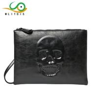 MLITDIS 3D Skeleton Solid Women's Clutch Bag Leather Women Envelope Bag Clutch Evening Bags Female Day Clutches Man Purses Bags