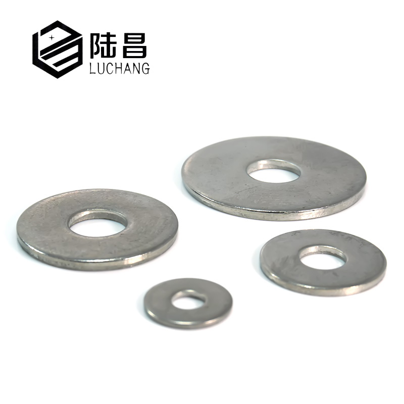 Luchang Free Shipping 50Pcs M5 M6 M8 304 Stainless Steel Large Size Flat Washer Bigger Metal Gasket Meson Plain Washers