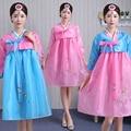 2016 Новый Корейский Ханбок Женщин Традиционный Корейский Одежда Ladies Ханбок Корейский Летом Корейской Традиционной одежды