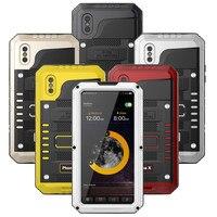 OCUBE 3 Proofings Armor Case For Iphone 8 8 Plus Metal Aluminum Dirt Shock Waterproof Case
