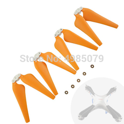 4 sztuk składany śmigła dla SYMA X8C X8W X8G X8HC X8HW X8HG ulepszenie łopaty śmigła zdalnie sterowany dron Quadcopter części zamiennych pomarańczowy kolor w Części i akcesoria od Zabawki i hobby na