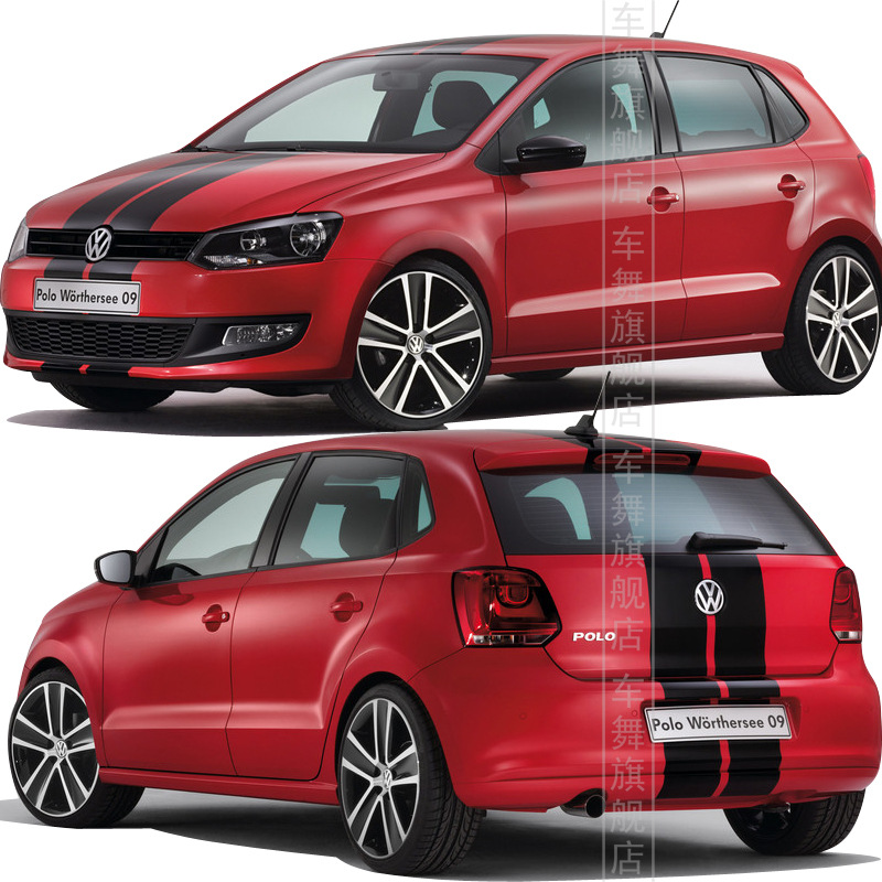 car whole body refit color change stickers for vw polo car. Black Bedroom Furniture Sets. Home Design Ideas