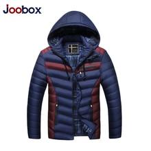 JOOBOX Men Winter Jacket Warm Casual Jackets Coats 2017 Fashion Thick Slim Winter Jacket Men Down Parkas hombre invierno L-3XL
