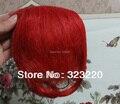"""8 """" meninas clipes do frente Neat estrondo Fringe extensões de cabelo humano 20 g Red"""