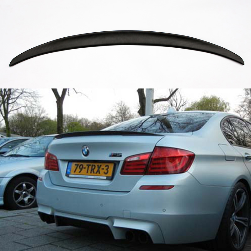 Performance Style F10 M5 Matt Carbon Fiber Car Rear Body Kit Trunk lip Spoiler Wing For BMW F10 M5 2011-2015 w205 c63 style carbon fiber car rear trunk lip spoiler wing for mercedes benz w205 4door 2015 2016