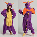 Hot Adult Unisex Pajamas Cosplay Costume Sleepwear Spyro Dragon pyjamas Animal Onesie