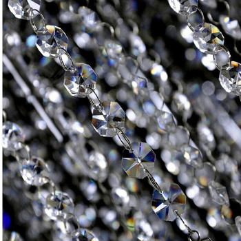 Free shipping! DIY ,AAA Top quality, Nice 14MM Octagon Glass Garland Strands, Crystal  beads Curtain,Wedding Decoration(20M/lot)
