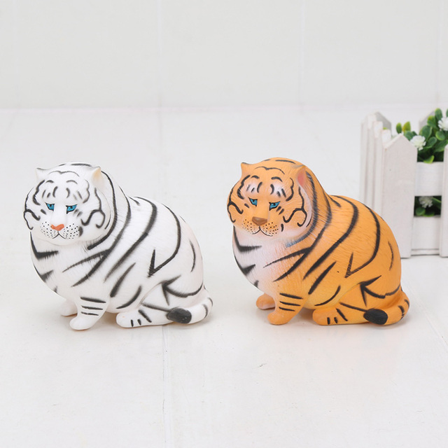 Cute Little Fat Tiger Figure Painted Baby Fat Animal Q Version Pvc