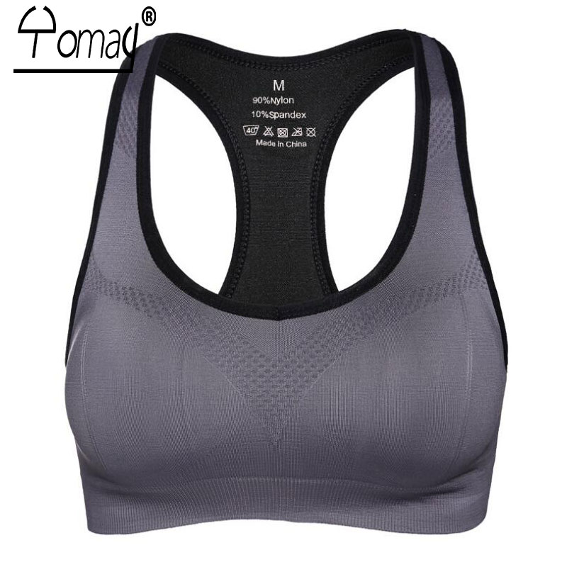 3146dab801 Detail Feedback Questions about Yomay Professional Women Sport Bra Vest Running  Gym Fitness No Steel Ring Padded Sports Bra Unique Back Rims Wireless Sports  ...