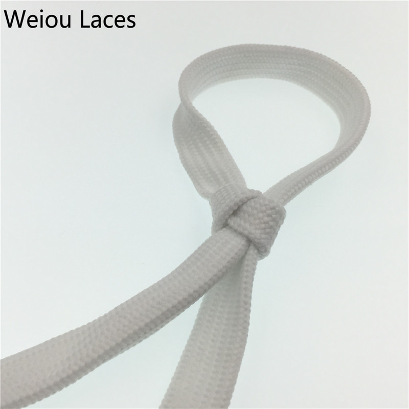 (30 pair/lot) Weiou wide hollow custom fat shoelace Athletic White designer shoe laces wide shoestrings 1.8cm/0.7