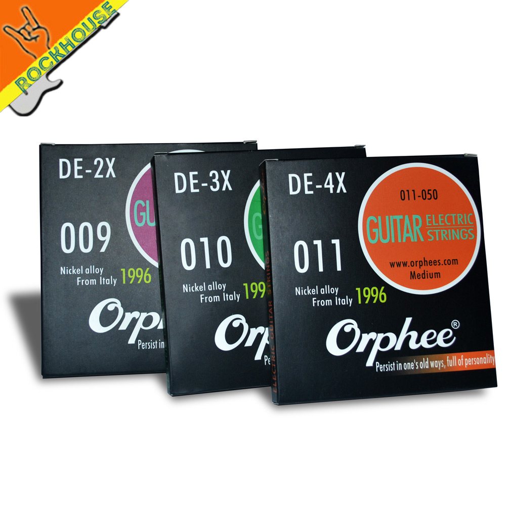 Orphee DE series High-end Electric guitar strings eletric guitarra string powerful bass strong mid-frequence vacuum packing 4pcs 990l electric bass guitar string 045 090 strings for electric bass with colored box