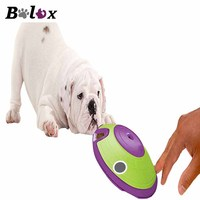 BOLUX Dog Leaky Feeder Toys Cat Dog Toys Flying Saucer Shape Pet Feeder Toys Interactive Portable Rubber Material Pet Supplies