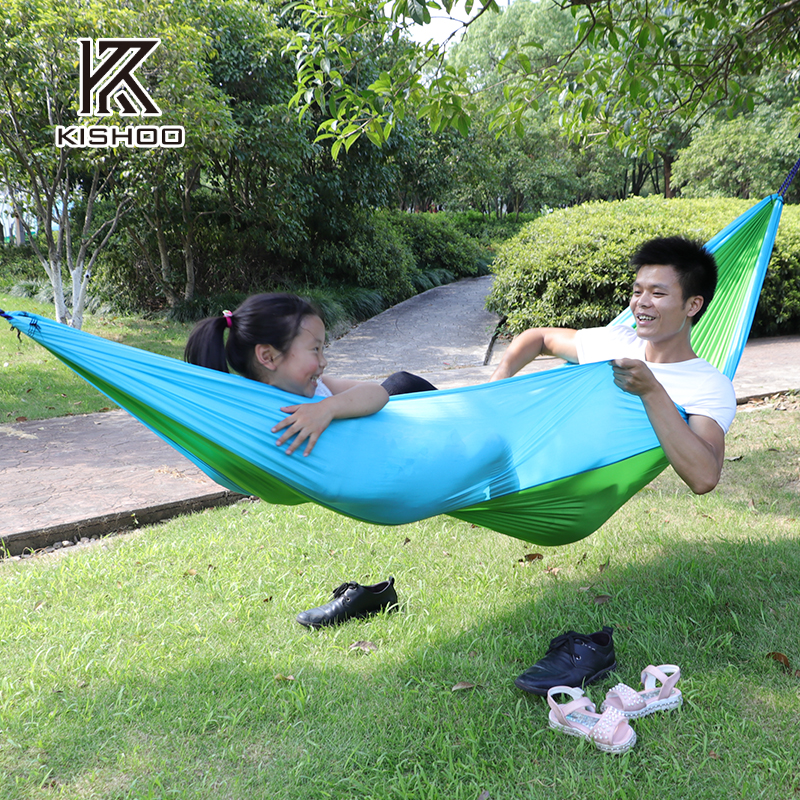 270*140cm Portable Hammock with double person Travel Camping Hammock Parachute Fabric Hanging Hammock for Indoor Outdoor Use furniture size hanging sleeping bed parachute nylon fabric outdoor camping hammocks double person portable hammock swing bed
