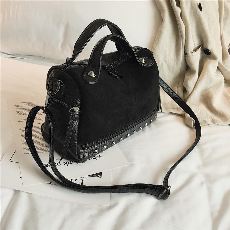 eb8ec657590 Dropwow Herald Fashion Women Top-handle Bags with Rivets High ...