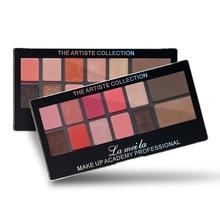 12 Colors Matte Pigment Glitter Eyeshadow Palette Shimmer Neutral Earth Color Makeup Set