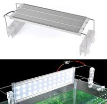 Aluminum Alloy LED Aquarium Lights White and Green/Blue Fish Tank Lamps Flip Type Aquarium Lighting 30/40/45cm EU US Plug