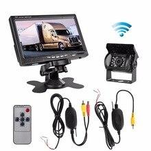 все цены на 12V-24V Wireless IR Night Vision Rear View Backup Camera and 7