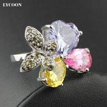Новинка элегантное кольцо lycoon с бабочкой роскошные кольца