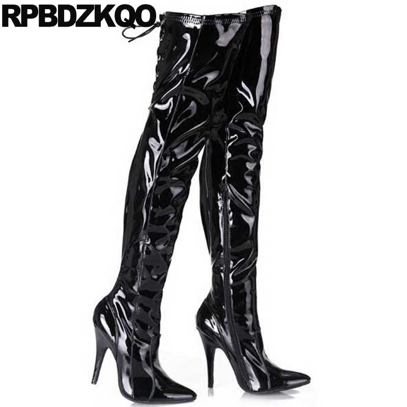 263032c93c3 ... Luxury High Heel Pole Dancing 13 45 Stiletto Extreme Over The Knee Big  Size Thigh Boots ...