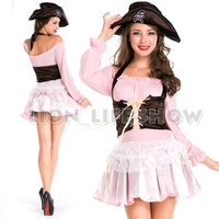 Cute Pirate Costumes Sets Fancy Dress Costumes For Women Cosplay Feminino