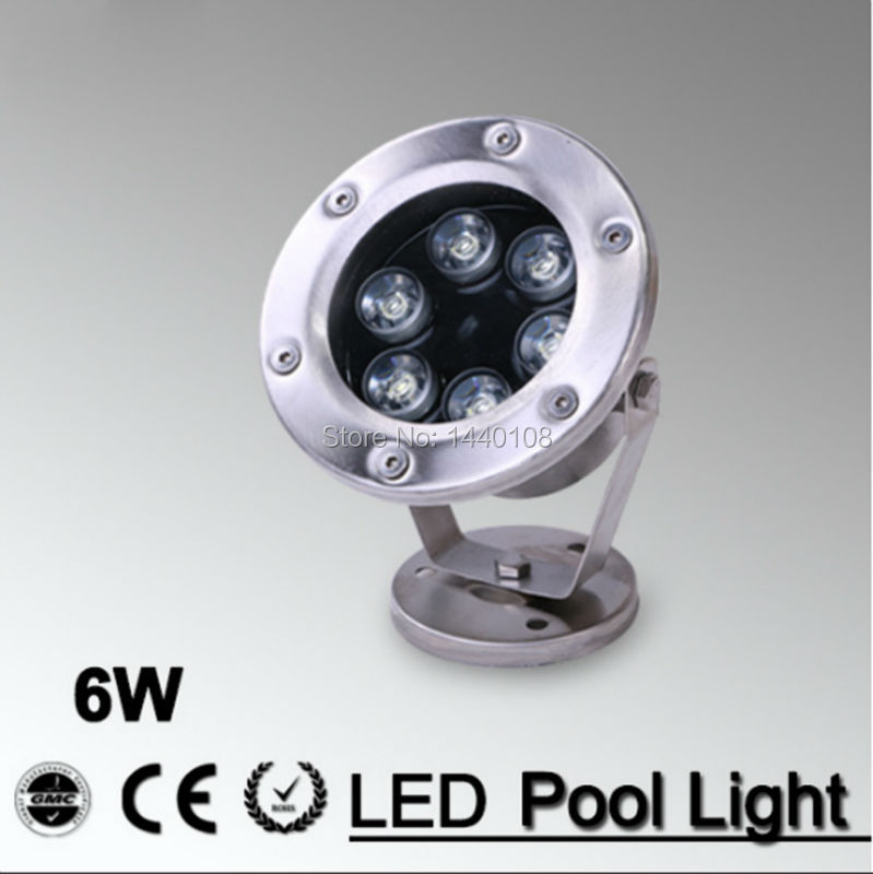 5pcs/lot RGB LED Pool Light IP68 AC12V AC24V 6W Stainless Steel LED Underwater Light Swimming Pool Led for Fountain