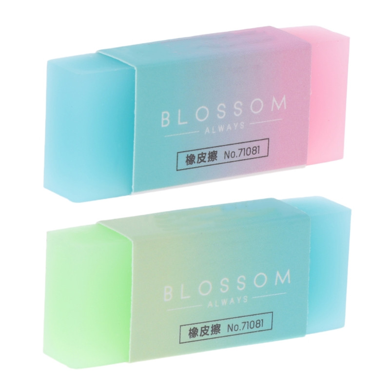 Candy Gradient Eraser Soft Durable Flexible Cube Cute Colored Pencil Rubber Erasers For School Kids Jelly Colored Pencil Erasers