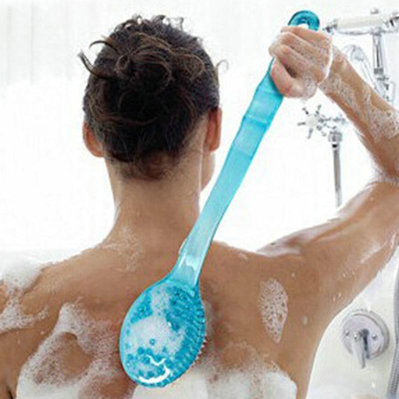 Bath Brushes, Sponges & Scrubbers: Bath Brush Long Handle Scrub Skin Massage Shower Feet Rubbing Brush For Back Exfoliation Brushes Body For Bathroom Accessories