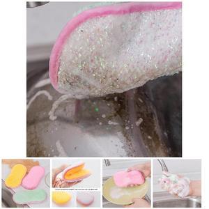 Image 5 - 2018 Schuursponsjes Dubbelzijdig Antibacteriële Schrobben Sponzen Schuursponsje Dish Cleaning DC112