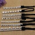 12pcs/lot women's cheap plastic Elastic sequins headband silver color flower crown hair wear wedding hair accessories wholesale