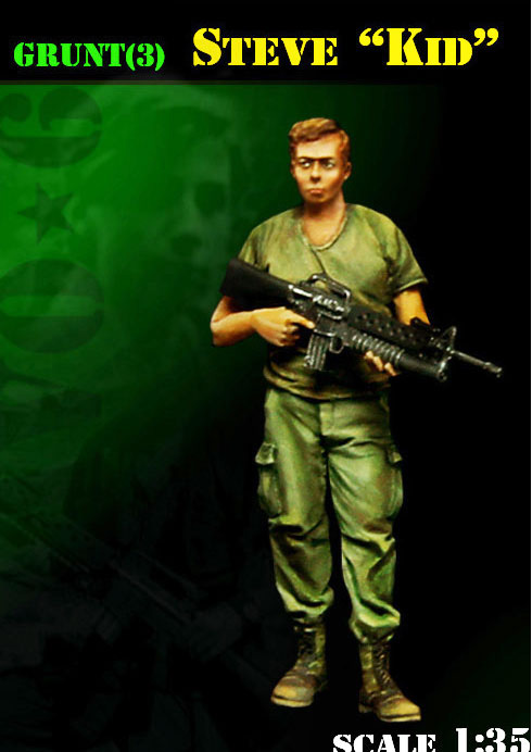 <font><b>1</b></font>/<font><b>35</b></font> <font><b>Vietnam</b></font> <font><b>War</b></font> summer Steve Kid soldier stand toy <font><b>Resin</b></font> Model Miniature <font><b>resin</b></font> <font><b>figure</b></font> Unassembly Unpainted image