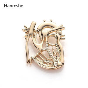 hanreshe Gold Jewelry Gift Doctor Medical Badge Pins Men
