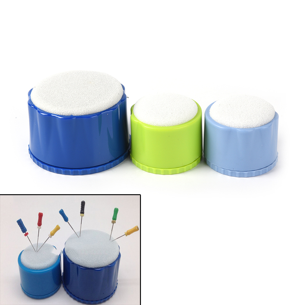 1PCS Dental Equipment Round Endo Stand Cleaning Foam File Drills Block Holder Wtih Sponge Autoclavable Dentist Products