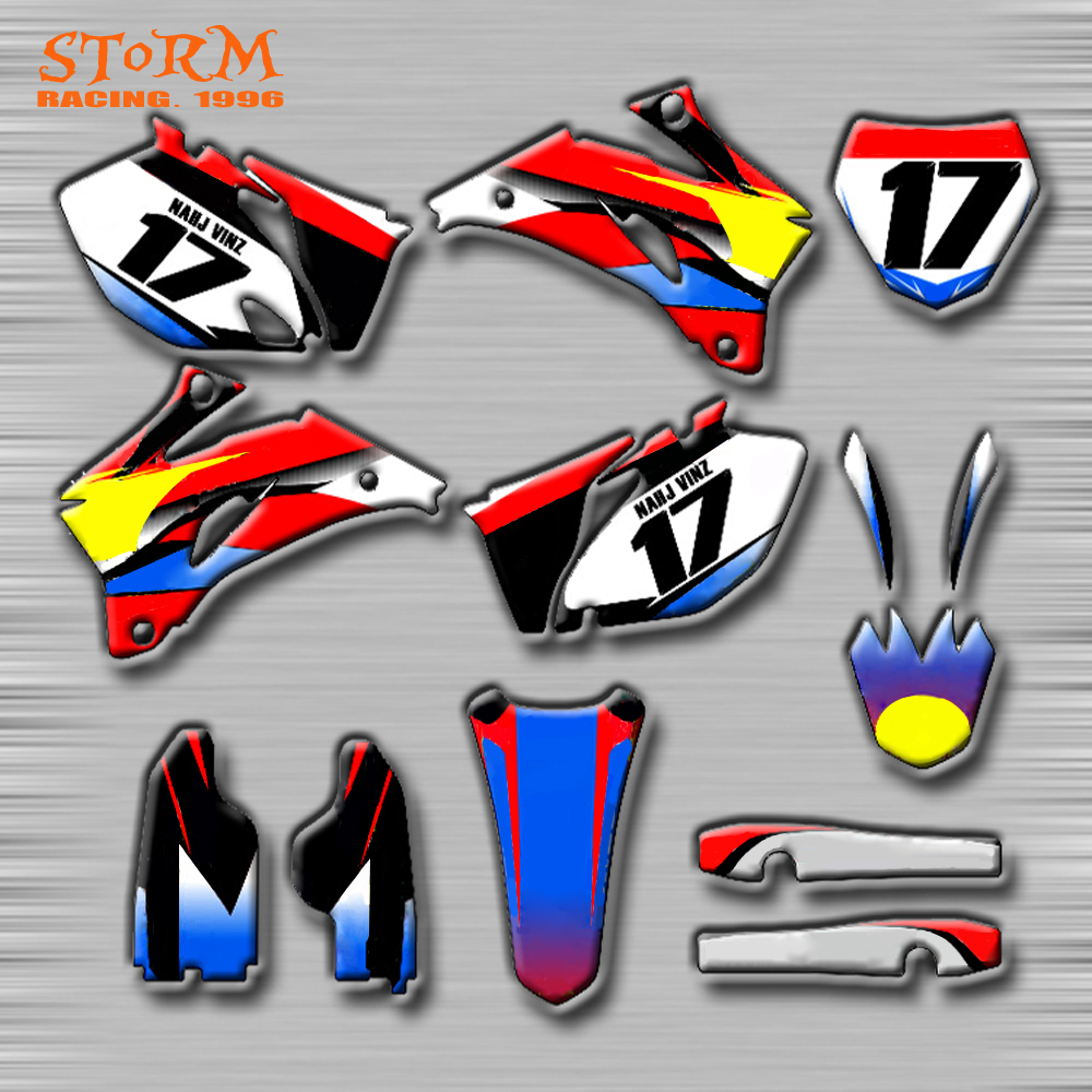 Decals Graphics With Matching Backgounds Customize Stickers Kits For YAMAHA YZ250F YZ450F YZF250 YZF450 06-09 YZF YZ WR TTR