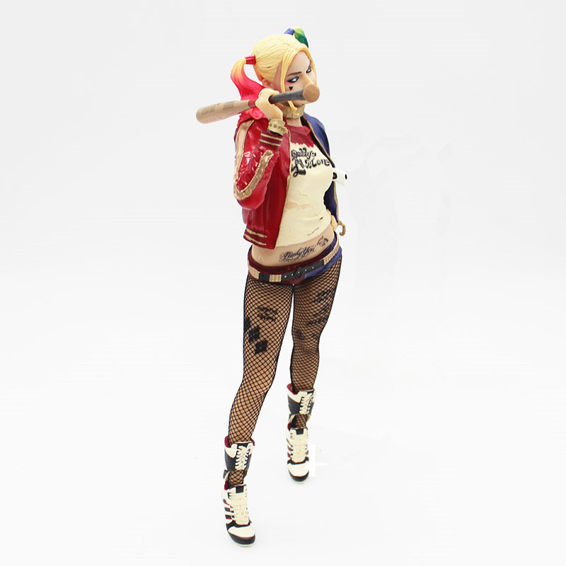 30cm Suicide Squad Harley Quinn Crazy Action Figure Toys Scale Collectible Model Toy For Anime Lovers as Christmas Gifts N034 deadpool pvc action figure nendoroid series collectible model toy 10cm deadpool toys for anime lovers christmas gift n044