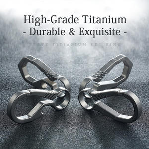 Titanium Keychain Buckle Key-Rings Carbine EDC Real Quickdraw-Tool Hanging Lightweight