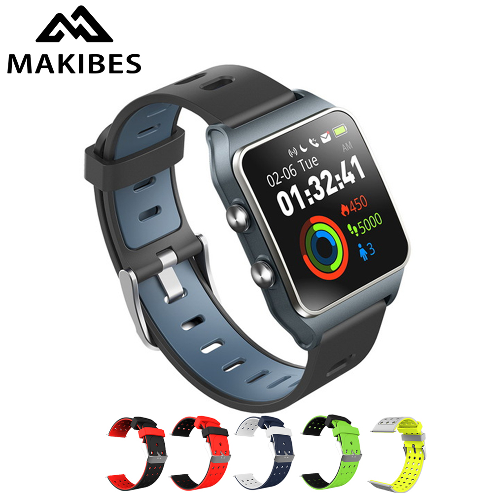 Makibes BR3 montre intelligente 17 types sport Strava bracelet IP68 étanche 1.3