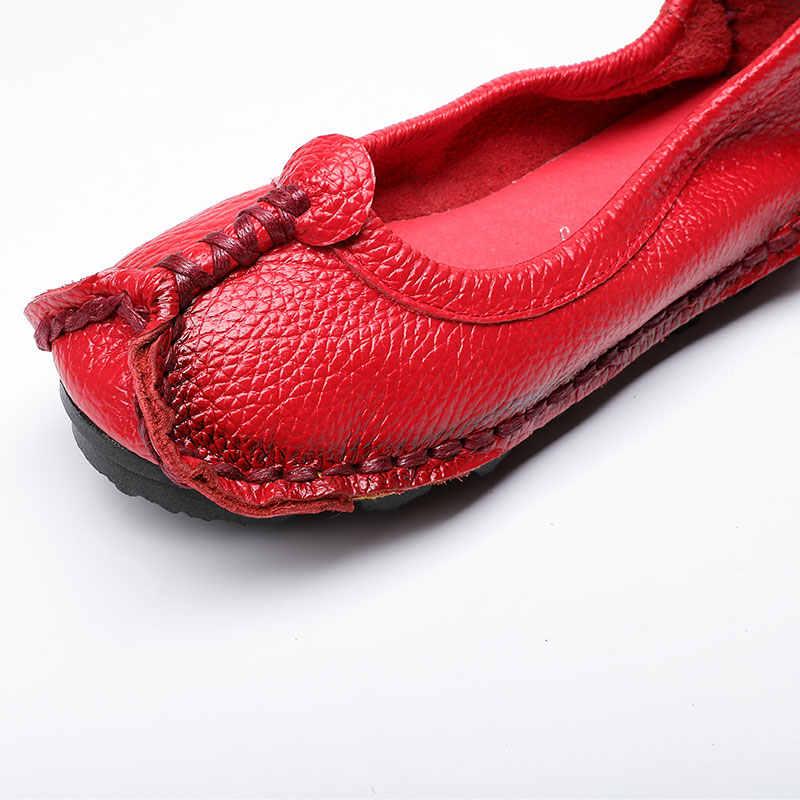 Xiuteng/2018; женская обувь; лоферы из натуральной кожи; Женская разноцветная Повседневная обувь; мягкая удобная обувь ручной работы; женская обувь на плоской подошве