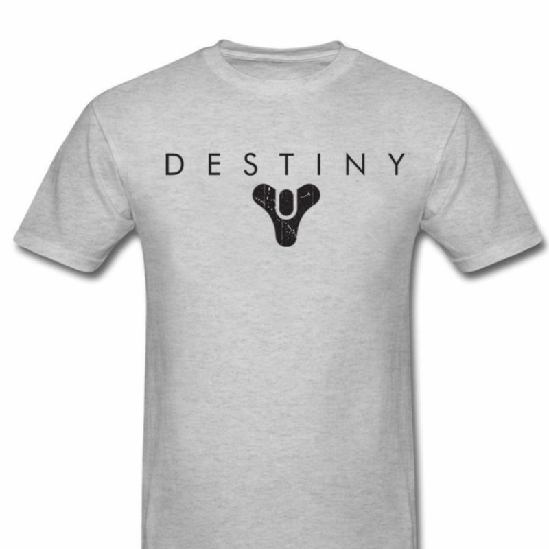 Destiny Logo Video Game Gaming T Shirts Men Classic Tees T Shirts Cool Casual Fashion Destiny Dad Hunter Titan Warlock Light 2