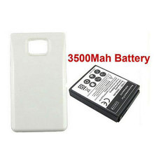 For Samsung Galaxy S2 i9100 3500mAh Battery Moblie Phone Rechargeable Thicker Bateria With Back Cover White Direct shipping